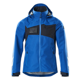Hard Shell Jacke, wasserdicht / Gr. XL,  Azurblau/Schwarzblau Produktbild