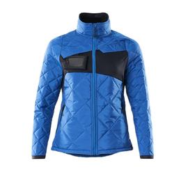 Jacke, CLIMASCOT, Damen,  wasserabweisend Thermojacke / Gr. L,  Azurblau/Schwarzblau Produktbild