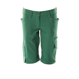 Shorts, Damenpassform, Pearl, Stretch /  Gr. C38, Grün Produktbild