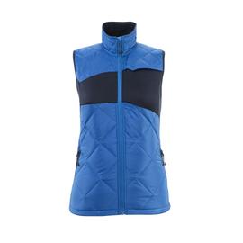 Winterweste m. CLI, Damen, leicht  Thermoweste / Gr. 4XL,  Azurblau/Schwarzblau Produktbild