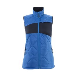 Winterweste m. CLI, Damen, leicht  Thermoweste / Gr. M,  Azurblau/Schwarzblau Produktbild