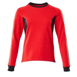 Sweatshirt, Damen / Gr. 5XLONE,  Verkehrsrot/Schwarz Produktbild