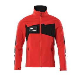 Jacke, Vier-Wege-Stretchstoff, leicht  Arbeitsjacke / Gr. 4XL,  Verkehrsrot/Schwarz Produktbild