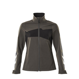 Jacke, Damen, Stretch, leicht  Arbeitsjacke / Gr. L,  Dunkelanthrazit/Schwarz Produktbild