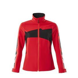 Jacke, Damen, Stretch, leicht  Arbeitsjacke / Gr. 4XL,  Verkehrsrot/Schwarz Produktbild