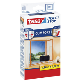 Fliegengitter für Fenster 1,3m x 1,3m anthrazit Tesa 55396-00021 Produktbild