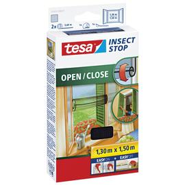 Fliegengitter Comfort für Fenster 1,3m x 1,5m zum öffnen / schließen Tesa anthrazit 55033-00021 Produktbild