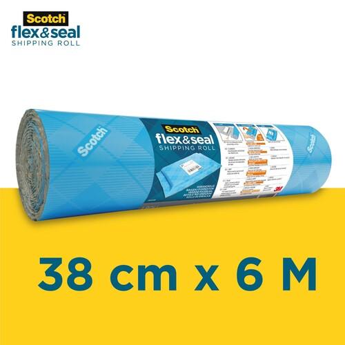 Verpackungen Scotch Flex /& Seal Versandrolle 38/cm/x/3/m Versandtaschen und gepolsterten Umschl/ägen eine effiziente Alternative zu Kartons
