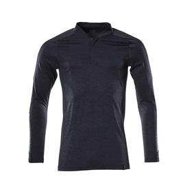 Polo-Shirt mit COOLMAX® PRO, Langarm /  Gr. M  ONE, Schwarzblau meliert Produktbild