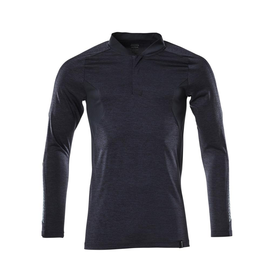 Polo-Shirt mit COOLMAX® PRO, Langarm /  Gr. 4XLONE, Schwarzblau meliert Produktbild