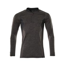 Polo-Shirt mit COOLMAX® PRO, Langarm /  Gr. 4XLONE, Dunkelanthrazit   meliert/Schwarz Produktbild