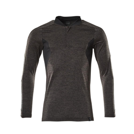 Polo-Shirt mit COOLMAX® PRO, Langarm /  Gr. 2XLONE, Dunkelanthrazit   meliert/Schwarz Produktbild