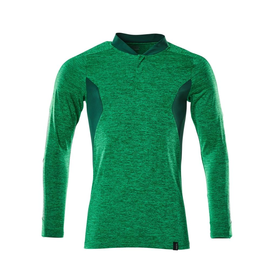 Polo-Shirt mit COOLMAX® PRO, Langarm /  Gr. 2XLONE, Grasgrün  meliert/Grün Produktbild