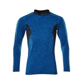 Polo-Shirt mit COOLMAX® PRO, Langarm /  Gr. L  ONE, Azurblau  meliert/Schwarzblau Produktbild