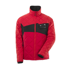 Jacke mit CLI, wasserabweisend  Thermojacke / Gr. L,  Verkehrsrot/Schwarz Produktbild