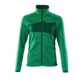 Strickpullover mit Reißverschluss,  Damen Strickjacke / Gr. 2XL,  Grasgrün/Grün Produktbild
