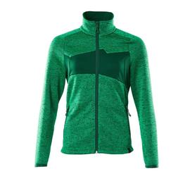Strickpullover mit Reißverschluss,  Damen Strickjacke / Gr. L,  Grasgrün/Grün Produktbild