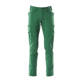 Hose, Schenkeltaschen, Stretch / Gr.  76C56, Grün Produktbild