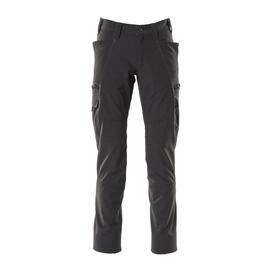 Hose, Schenkeltaschen, Stretch / Gr.  82C44, Schwarz Produktbild