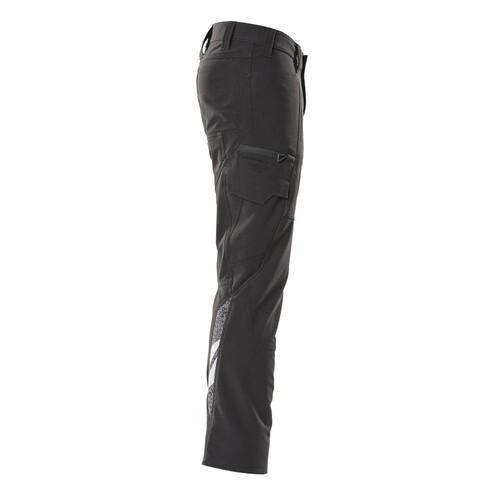 Hose, Schenkeltaschen, Stretch / Gr.  82C42, Schwarz Produktbild Additional View 3 L