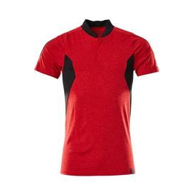 Polo-Shirt, COOLMAX®PRO,moderne  Passform / Gr. S  ONE, Verkehrsrot  meliert/Schwarz Produktbild