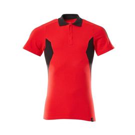 Polo-Shirt, moderne Passform / Gr. L   ONE, Verkehrsrot/Schwarz Produktbild