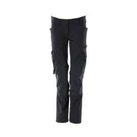 Hose, Damen, Pearl, Knietaschen,  Stretch / Gr. 82C40, Schwarzblau Produktbild