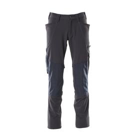 Hose, Knietaschen, Stretch / Gr. 90C62,  Schwarzblau Produktbild
