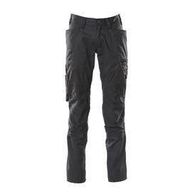 Hose mit Knietaschen, Stretch-Einsätze  / Gr. 82C43, Schwarz Produktbild