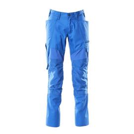 Hose mit Knietaschen, Stretch-Einsätze  / Gr. 90C56, Azurblau Produktbild