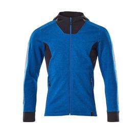 Sweatshirt mit Kapuze, moderne Passform  Sweatshirt mit Reißverschluss / Gr.  4XLONE, Azurblau/Schwarzblau Produktbild