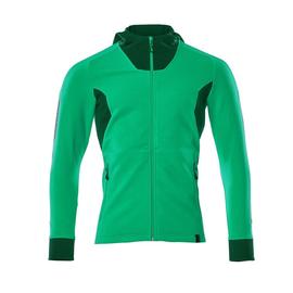 Sweatshirt mit Kapuze, moderne Passform  Sweatshirt mit Reißverschluss / Gr. L   ONE, Grasgrün/Grün Produktbild
