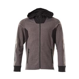 Sweatshirt mit Kapuze, moderne Passform  Sweatshirt mit Reißverschluss / Gr.  4XLONE, Dunkelanthrazit/Schwarz Produktbild
