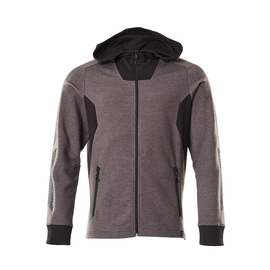 Sweatshirt mit Kapuze, moderne Passform  Sweatshirt mit Reißverschluss / Gr. S   ONE, Dunkelanthrazit/Schwarz Produktbild