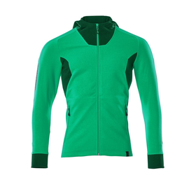 Sweatshirt mit Kapuze, moderne Passform  Sweatshirt mit Reißverschluss / Gr. S   ONE, Grasgrün/Grün Produktbild