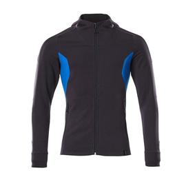Sweatshirt mit Kapuze, moderne Passform  Sweatshirt mit Reißverschluss / Gr.  4XLONE, Schwarzblau/Azurblau Produktbild