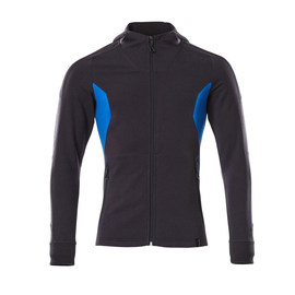 Sweatshirt mit Kapuze, moderne Passform  Sweatshirt mit Reißverschluss / Gr. L   ONE, Schwarzblau/Azurblau Produktbild