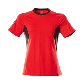 T-Shirt, Damen Damen T-shirt / Gr.  4XLONE, Verkehrsrot/Schwarz Produktbild
