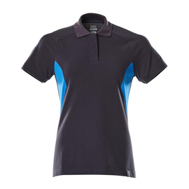 Polo-Shirt, Damen / Gr. L  ONE,  Schwarzblau/Azurblau Produktbild