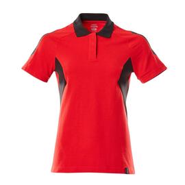 Polo-Shirt, Damen / Gr. M  ONE,  Verkehrsrot/Schwarz Produktbild