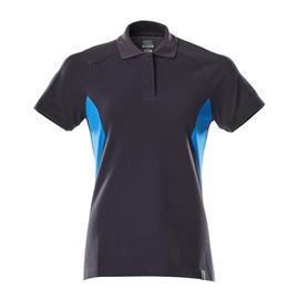 Polo-Shirt, Damen / Gr. 4XLONE,  Schwarzblau/Azurblau Produktbild