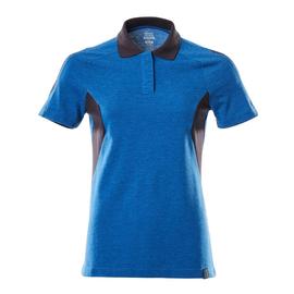 Polo-Shirt, Damen / Gr. XL ONE,  Azurblau/Schwarzblau Produktbild