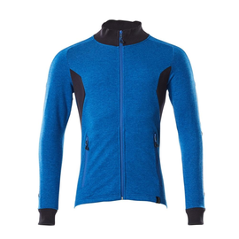 Sweatshirt mit Reißverschluss,modern  Fit / Gr. S  ONE, Azurblau/Schwarzblau Produktbild