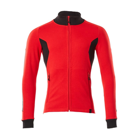 Sweatshirt mit Reißverschluss,modern  Fit / Gr. XL ONE, Verkehrsrot/Schwarz Produktbild