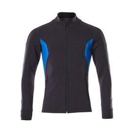 Sweatshirt mit Reißverschluss,modern  Fit / Gr. 2XLONE, Schwarzblau/Azurblau Produktbild