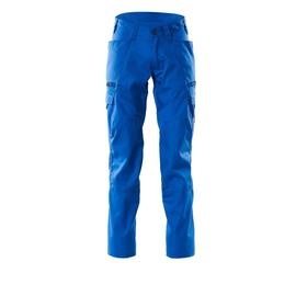 Hose, Schenkeltaschen, Stretch-Einsätze  / Gr. 82C44, Azurblau Produktbild