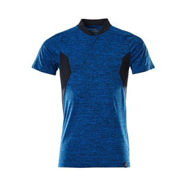 Polo-Shirt, COOLMAX®PRO,moderne  Passform / Gr. L  ONE, Azurblau  meliert/Schwarzblau Produktbild