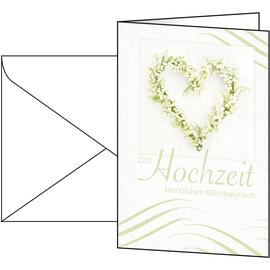 Glückwunsch-Karten inkl. Umschläge 115x170mm 220g Hochzeit Sigel DS042 (PACK= JE 10 STÜCK) Produktbild