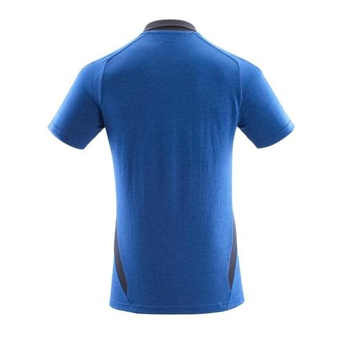 Polo-Shirt, moderne Passform / Gr. L ONE, Azurblau/Schwarzblau Produktbild Additional View 2 L