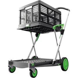 Klapptrolley Kunststoff/Aluminium grau/grün Produktbild